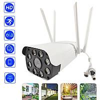 Уличная Wi-Fi IP камера видеонаблюдения цветная на 4 антены Visio CAD 23D 2Мп/ИК/микрофон/датчик движения