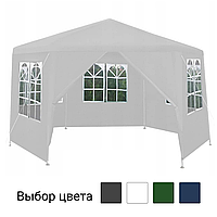 Павильон садовый 6 секций 2х2х2м с окнами торговая палатка (Туристический шатер) Белый