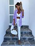 Женский пиджак, креп - костюмка класса люкс, р-р С-М; М-Л (лаванда), фото 2