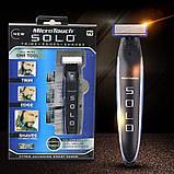 Багатофункційний акумуляторний триммер для бороди і вусів | Електробритва чоловіча MicroTouch SOLO, фото 2