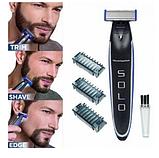 Багатофункційний акумуляторний триммер для бороди і вусів | Електробритва чоловіча MicroTouch SOLO, фото 4