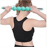 Ролик масажний для йоги Massage stick | Масажер для спини | Валик для фітнесу масажний, фото 7