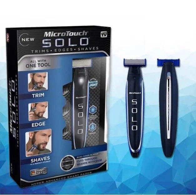Багатофункційний акумуляторний триммер для бороди і вусів | Електробритва чоловіча MicroTouch SOLO