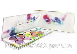 Палетка теней для век ZOEVA Sweet Glamour Palette 10 цв. PE019