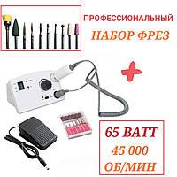 Фрезер для маникюра и педикюра Nail Drill ZS-602 65W 45000 об/мин (аппаратный маникюр машинка для ногтей)