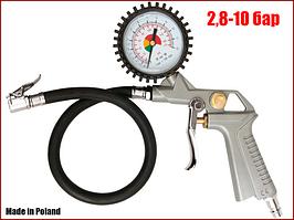Пистолет для подкачки шин с манометром Vorel 81650