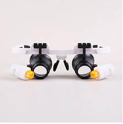 Бинокулярные очки с подсветкой Magnifier 9892RD (mdr_7716)