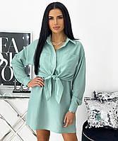 Женский летний костюм платье с рубашкой, фото 1