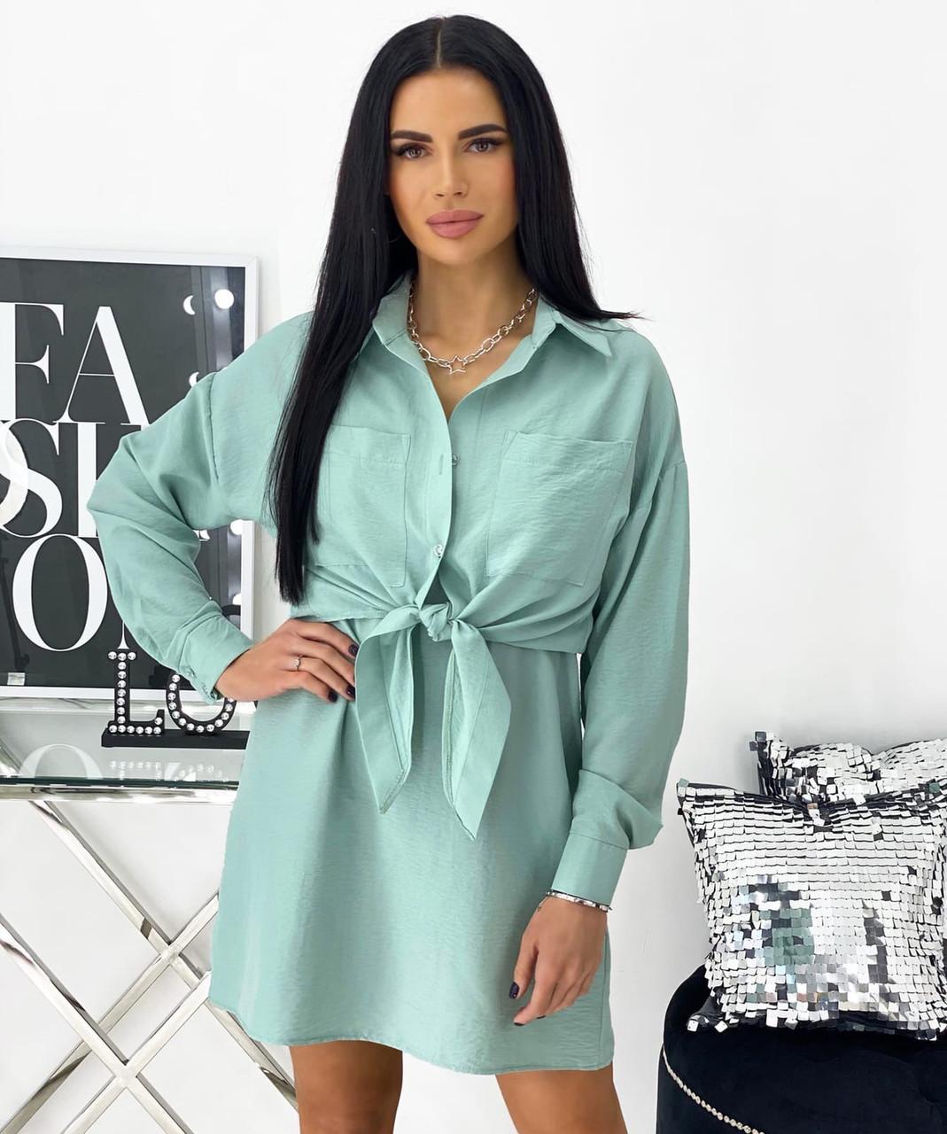 Женский летний костюм платье с рубашкой