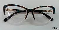 Елегантні жіночі окуляри в полуоправі метелики Модель 2138, фото 1