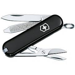 Нож складной, мультитул Victorinox Classic SD (58мм, 7 функций), черный 0.6223.3