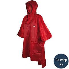 Дождевик-пончо Tatonka Poncho (р.XS-S), красный 2799.015