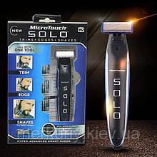Многофункциональный аккумуляторный триммер для бороды и усов   Электробритва мужская MicroTouch SOLO
