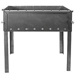 Мангал для шашлыков (8-местный), нержавеющая сталь