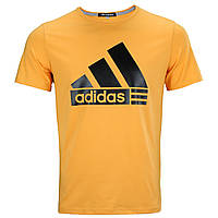 Футболка спортивная желтый ADIDAS пирамида Ф-10 YEL L(Р) 20-911-020