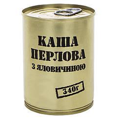 Тушенка из говядины с перловой кашей, консервы (340г), ж/б