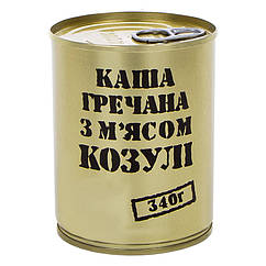 Тушонка з козулі з гречаною кашею, консерви (340г), ж/б