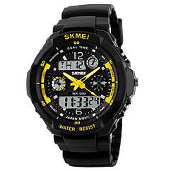 Часы электронные, спортивные Skmei 0931, черный-желтый, в металлическом боксе