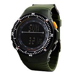 Часы электронные, спортивные Skmei 0989, зеленые, в металлическом боксе