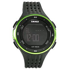 Часы электронные, спортивные Skmei 1219, зеленые, в металлическом боксе