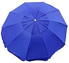 Зонт пляжний з клапаном і срібним напиленням, діаметр 3м., 10 спиць, Синій, фото 2