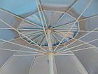 Зонт пляжний з клапаном і срібним напиленням, діаметр 3м., 10 спиць, Синій, фото 6