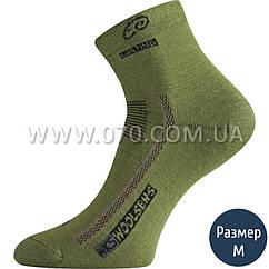 Термоноски треккинговые Lasting Wks, черно-зеленые (р.M)