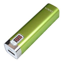 Внешнее зарядное устройство Power Bank DOCA D516 (2600mAh), зеленый