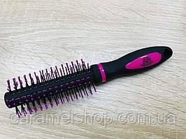 Гребінець для волосся Брашинг Global Fashion 8517RX колір ЧОРНИЙ + рожевий міні