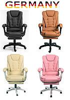 Офисное кресло для руководителя с подставкой для ног Современый дизайн эко-кожа до 120кг ts-bs707 A1
