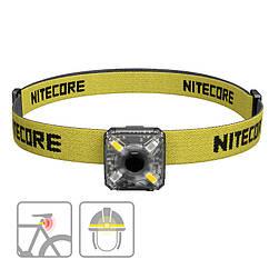 Фонарь налобный Nitecore NU05 KIT (4xLED + RED LED, 35 люмен, 5 режимов, USB)