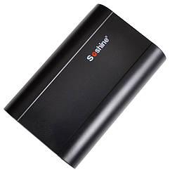 2 в 1 - Power Bank + зарядное устройство Soshine E5 (1-3x18650), черный