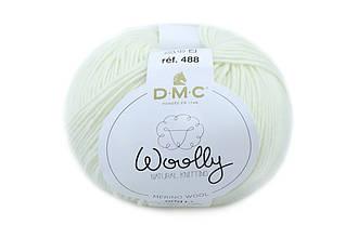DMC WOOLLY, Белый №01
