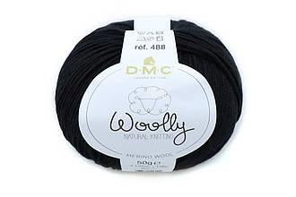 DMC WOOLLY, Черный №02