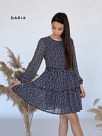 Свободное платье из шифона  ЛЧ 028D5, фото 1