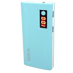Внешнее зарядное устройство Power Bank DOCA D566II с LED дисплеем (13000mAh), синий