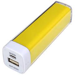 Внешнее зарядное устройство Power Bank DOCA D-Lipstick HT-2600 (2600mAh), желтый