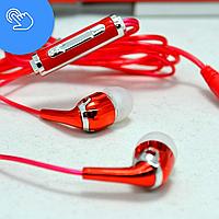 Наушники с микрофоном для телефона, Bass W-918, вакуумные наушники, навушники з мікрофоном, наушники