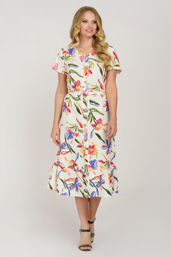 Льняное платье 48,50,52,54,56,58 размер
