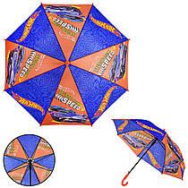 Детский зонт Hot Wheels PL8205  (60шт) полиэстер, р-р трости – 67 см, диаметр в раскрытом – 86 см