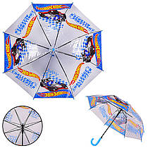 Детский зонт Hot Wheels PL8206  (60шт) прозрачный, р-р трости – 66 см, диаметр – 80 см