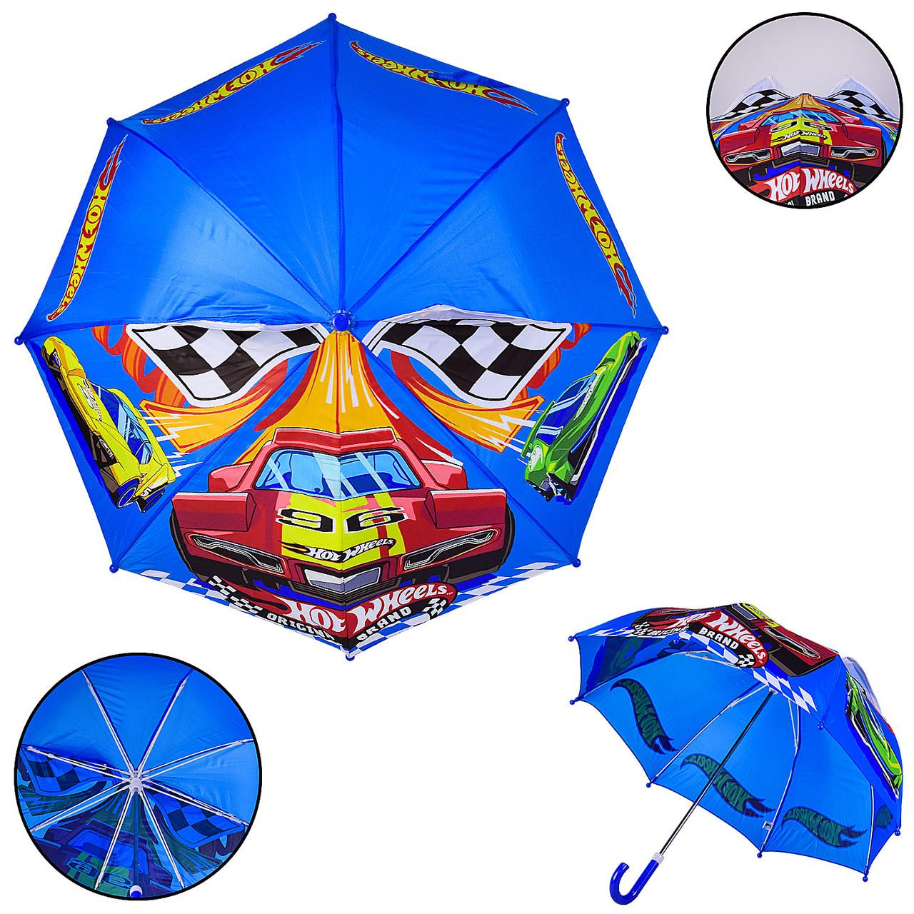 Дитяча парасолька Hot Wheels PL8207  (60шт) полиэстер, р-р трости – 59 см, диаметр в раскрытом виде – 70