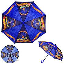 Детский зонт Hot Wheels PL8208  (60шт) полиэстер, р-р трости – 67 см, диаметр купола – 86 см