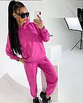 Жіночий спортивний костюм, турецька двунить, р-р С-М; М-Л (рожевий), фото 2