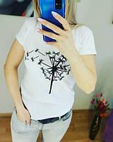 Ф05 Жіночі білі футболки з бавовни