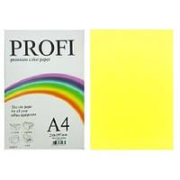 Бумага цветная Profi А4. 160г (250л) Deep Lemon N 210 (лимон)