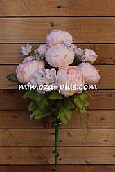 Искусственные цветы - Пион букет, 50 см