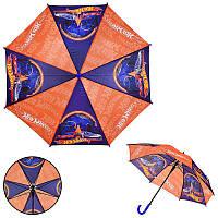 Детский зонт Hot Wheels PL8204 (60шт) полиэстер, р-р трости – 67 см, диаметр в раскрытом – 86 см