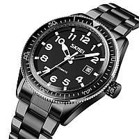Чоловічий механічний годинник скелетон Skmei 9232 чорні, фото 1