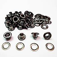 Люверсы для верхней одежды 8мм (№5) Блек никель, Турция (100шт)